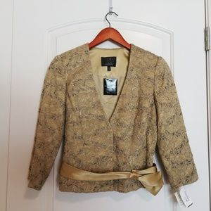 NWT Carmen Marc Valvo Collection Gold Jacket
